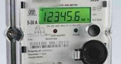 Electricty meter.